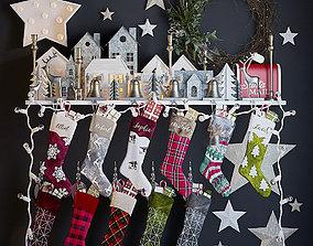3D Christmas Stockings and Decor