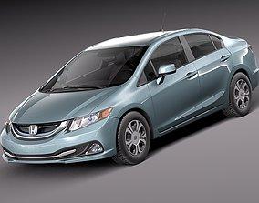 3D Honda Civic Sedan Hybrid 2013