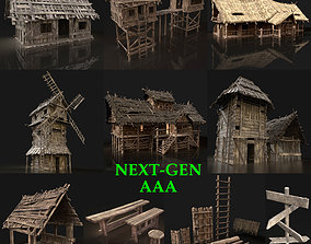 Next Gen AAA Village Builder town 3D model