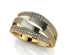 3D printable model ring stone 159