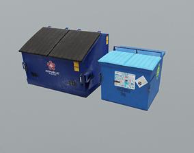 Industrial Bins 3D asset