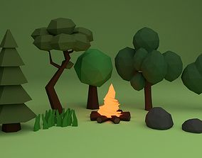 Forest Pack Low-poly 3D model VR / AR ready
