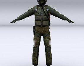 Fighter pilot 3D model fighter