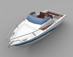 3D asset motor boat