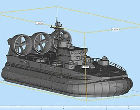 Zubr LCAC Highly Detailed 3D printable model