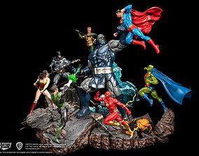 3D print model he Justice League Take on Darkseid