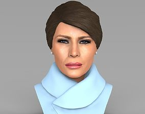 Melania Trump bust ready for full color 3D printing