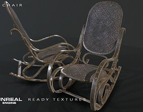 Rocking chair 3D asset low-poly