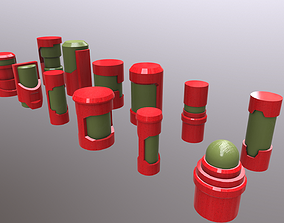 12 Sci-Fi Capsule Models Kit VR / AR ready