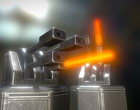 Laser Gun Tower 3D model