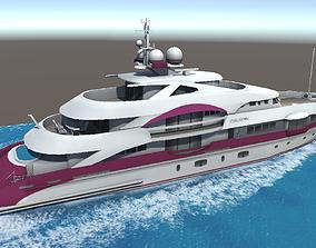 VR / AR ready Quinta Essentia yacht 3d low poly model