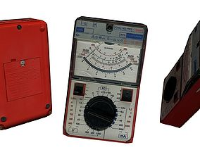 3D asset Electronic Voltage Meter Hand Survey Device Sci 2