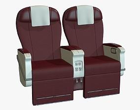 Airplane Chair Premium Class 3D asset