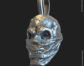 Skull gangster vol2 pendant jewelry 3D printable model