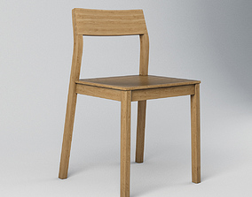 Wooden Chair minimalistic 3D