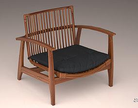 NOELIE rattan lounge used chair 3D model