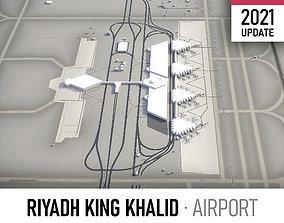 3D model VR / AR ready Riyadh Airport