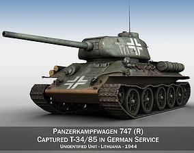 3D Panzerkampfwagen 747 R - T-34 85