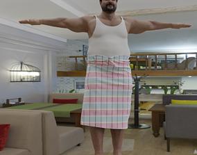 3D model Man in Lungi