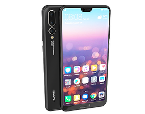 3D model Huawei P20 Pro 2018 smart-phone