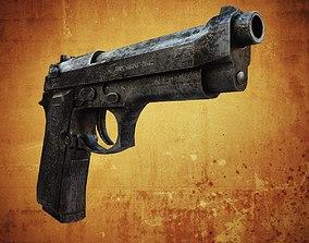 3D asset Beretta M9 9mm