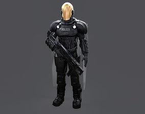 3D model Futuristic Cyberpunk Police Enforcer