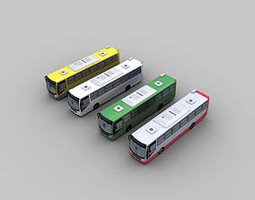 3D asset low-poly Lowpoly City Bus