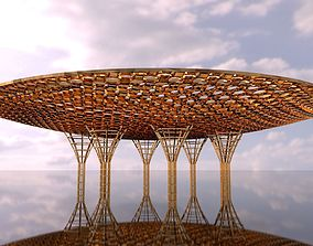 3D model Inverted Canopy architectural structure