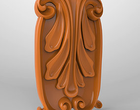 Carved CNC 3D print model capitel element