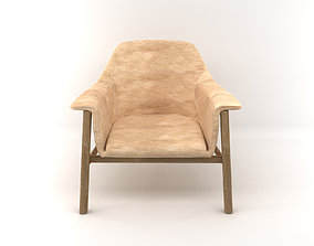 Wooden Armchair 3D realistic