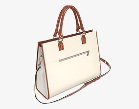 3D model Woman briefcase shoulder travel bag handbag