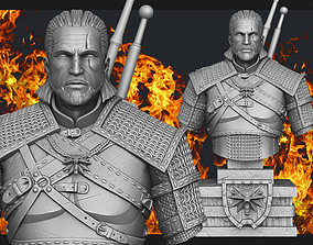 3D printable model Witcher Geralt of Rivia bust