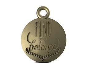 3D print model find your balance pendant