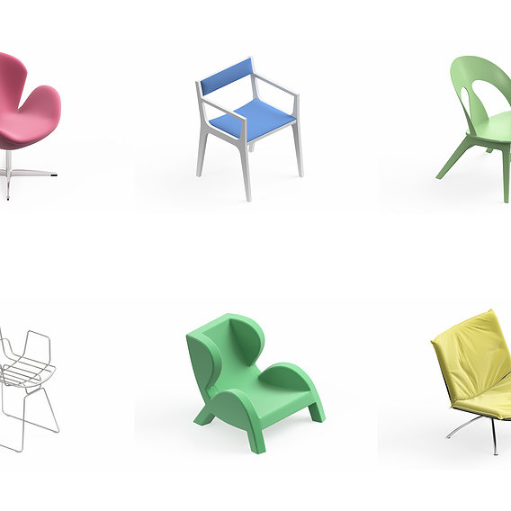 Armchair Modern Collection 6x