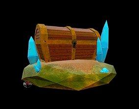 Treasure Box 3D asset VR / AR ready