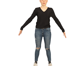 No302 - Female T Pose 3D model
