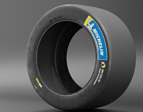 Michelin Pilot Sport GT low poly 3D asset