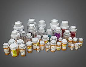 Pill Bottles HPL - PBR Game Ready 3D asset