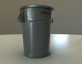 Plastic Trashcan 3D model low-poly