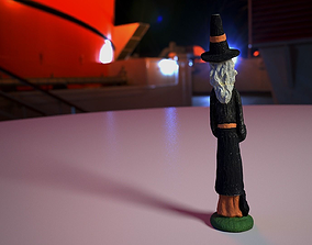 3D model VR / AR ready Witch