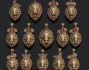 lion pendant pack 3D print model