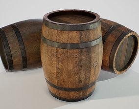 PBR Wooden Barrel 3D asset