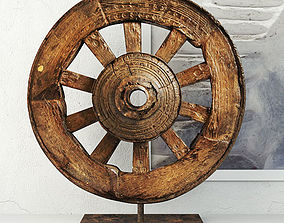 Ox Cart Wheel on Stand eco 3D model