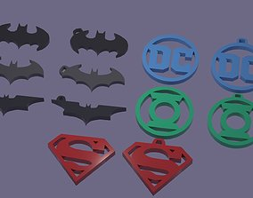 DC Comics Hero logos keycahin-necklace-bracelet