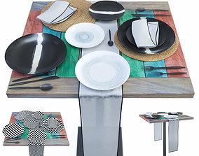 napkin Table set Barkowski 3D model