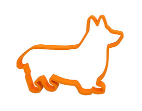3D print model dog Cookie cutter