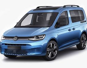 3D Volkswagen Caddy Life 2021