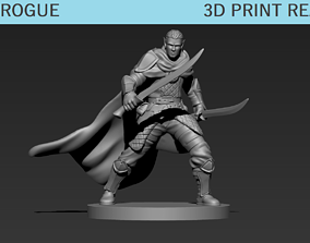 Elf Rogue miniature 3D print model