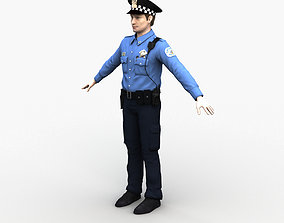Police Officer 0073 3D rigged