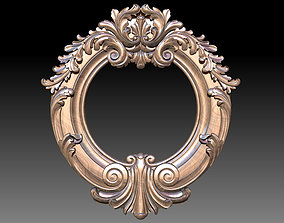 Mirror classical carved frame - set 3D printable model